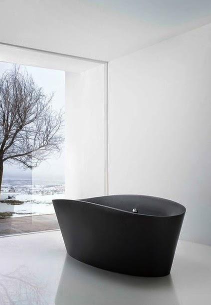 Bañeras en casa - bañera negra
