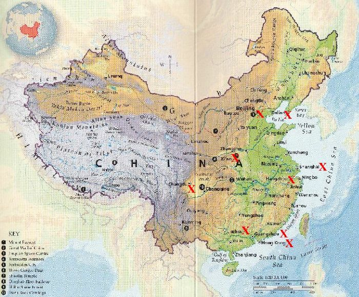 Map of china geography area china map cities tourist for Chinese in the area