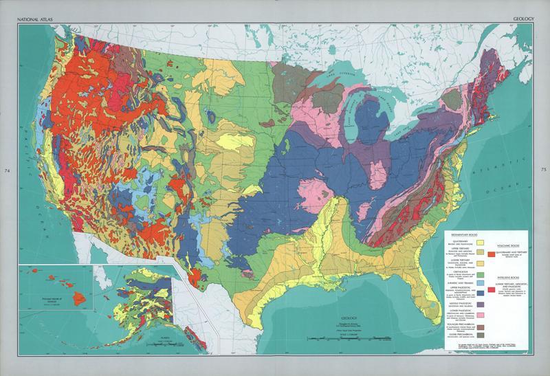 Mapas Geológicos De Estados Unidos - Mapas usa