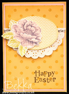 Stippled Blossoms Easter Card by Stampin' Up! Demonstrator Bekka Prideaux