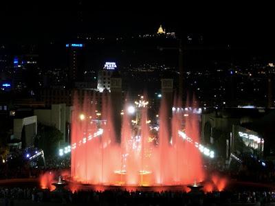 Magic Fountain from Montjuïc in Barcelona