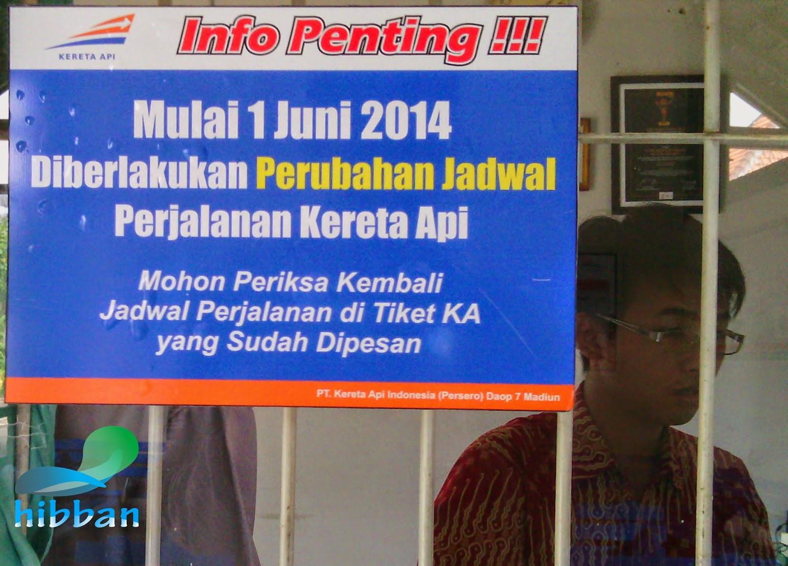 Perubahan Jadwal Kereta Api Sancaka mulai tanggal 1 Juni 2014