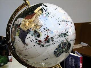 globe for world blogging challenge
