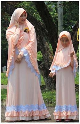 Busana Muslim Model Gamis Bergo Couple