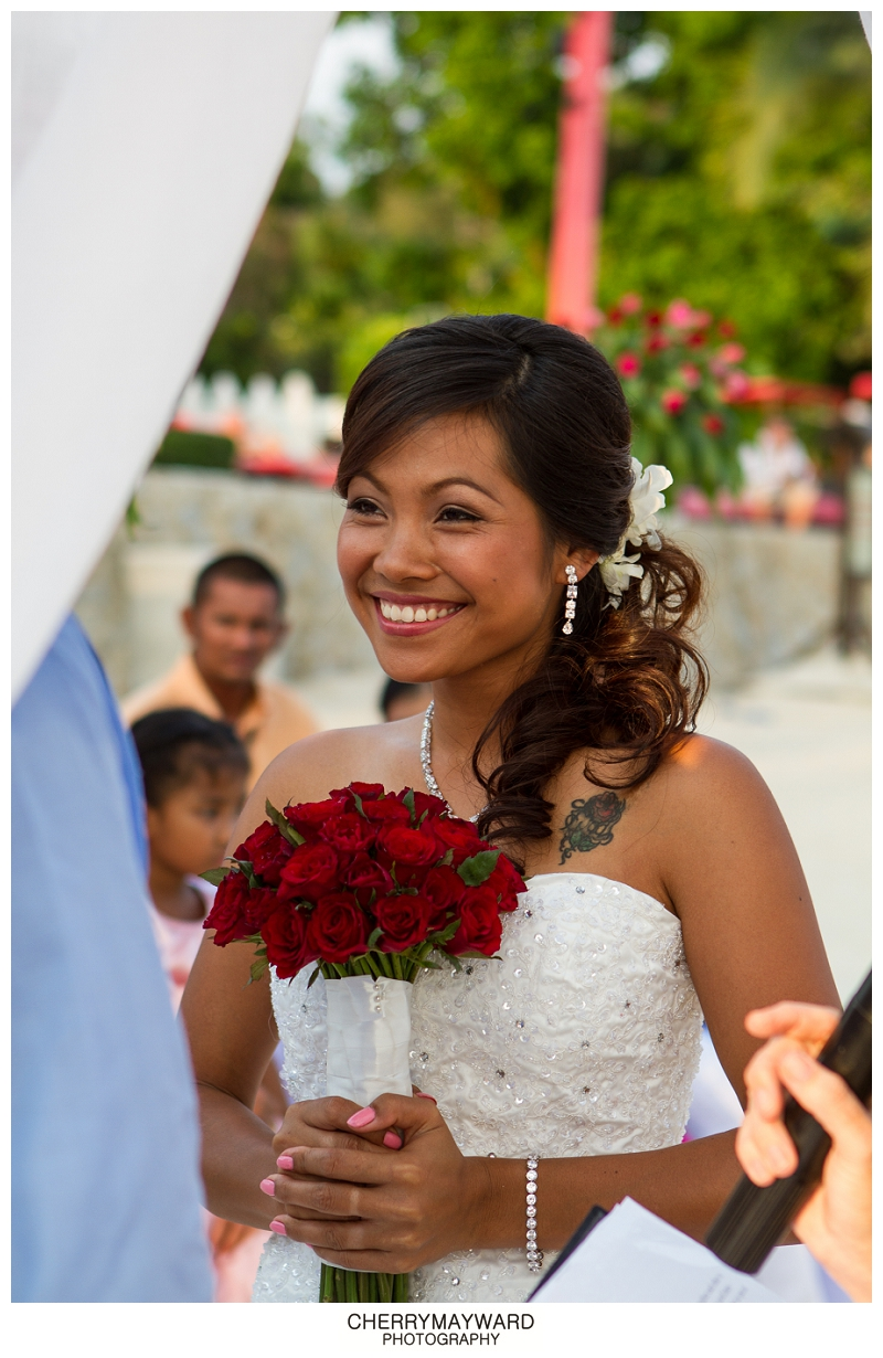 Beautiful Thai Bride, Lamai Beach Wedding, Koh Samui