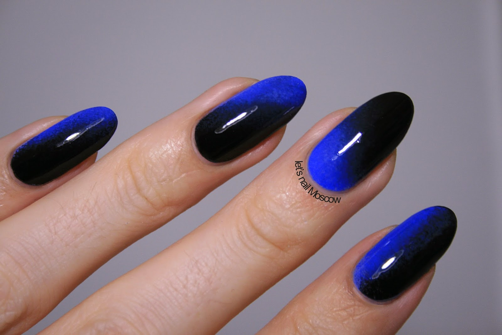 Ombre Flame Nail Design