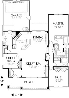 Fachadas de casas modernas de una planta planos de casas for Planos de casas online
