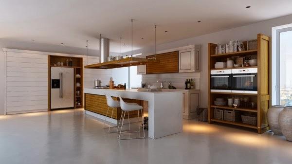 Diseño de interiores & arquitectura: cocinas modernas con contraste
