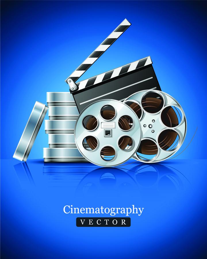 映画を題材にした背景 movie props picture clip art イラスト素材9