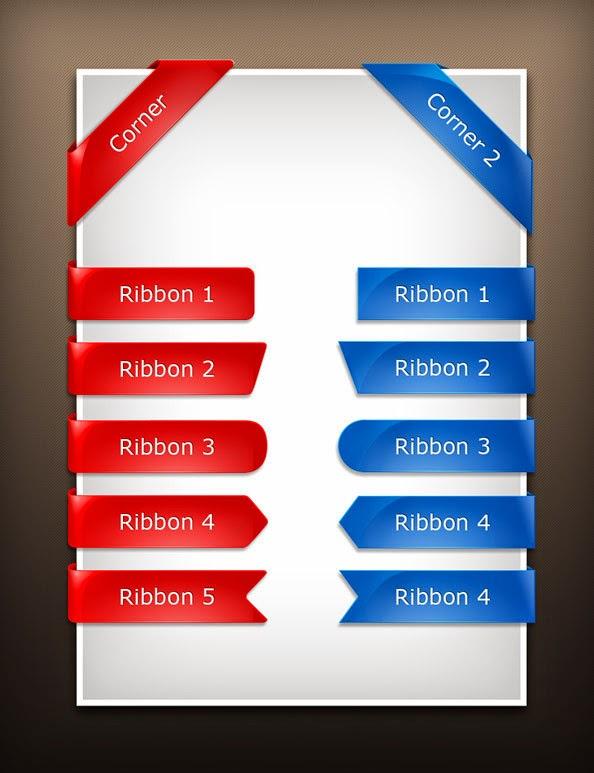 Free PSD Glossy Ribbons