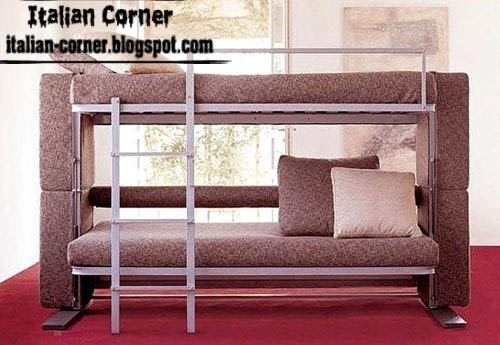Modern Sofa Bed, Italian Sofa Bed Design, Brown Sofa Bed