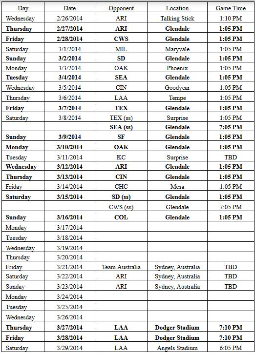 Dodgers Schedule 2014 Autos Post