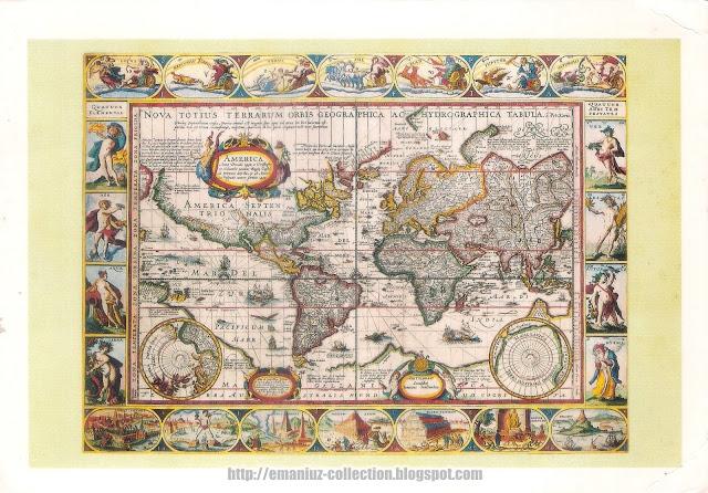 Postcard: Nova Totius Terrarum Orbis Geographica ac Hydrographica Tabula