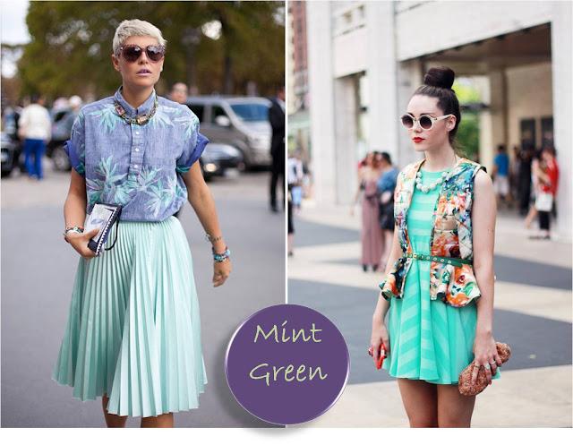 Mint green trend street style