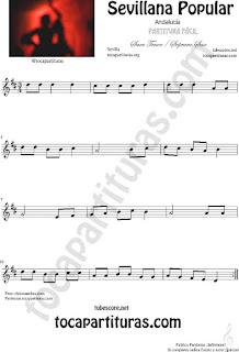 Sevillana Popular Partitura de Saxofón Soprano y Saxo Tenor Sheet Music for Soprano Sax and Tenor Saxophone Music Scores