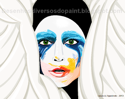 Desenho do single Applause, de Lady Gaga, feito no MS Paint.