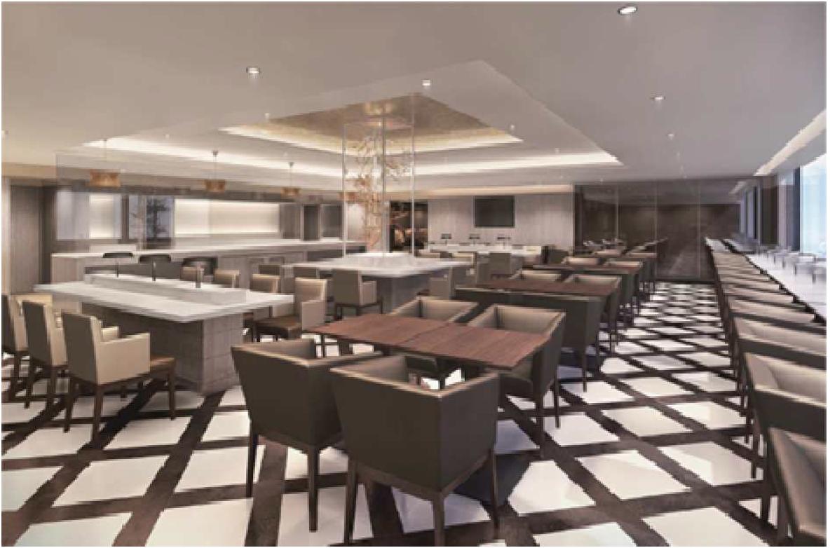 The renovated international Sakura Lounge at Osaka Kansai Airport