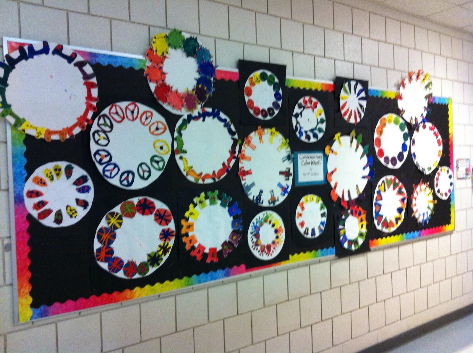 5th Grade Color Wheels And Clay Checkerboards