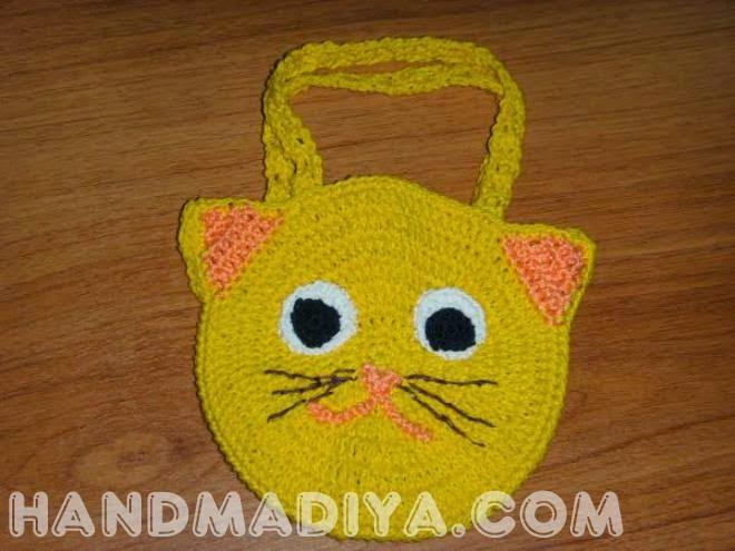 Вязаная крючком детская сумочка. How to crochet baby bag?