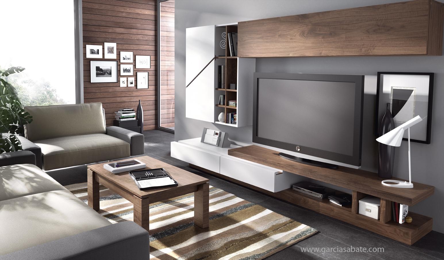 Informaci n de mobiliario muebles de television formas y for Lienzos para salon modernos