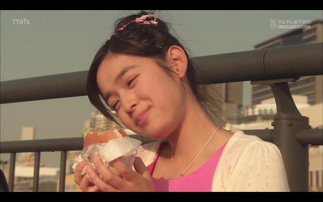 Kotoko loves burgers!