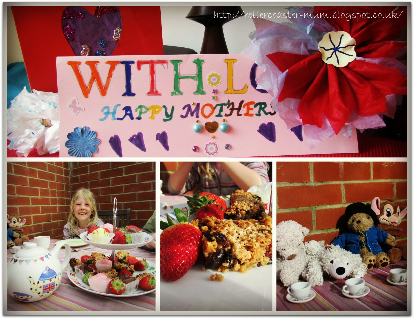 Mother's day cards and afternoon tea