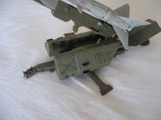 model of SAM missile
