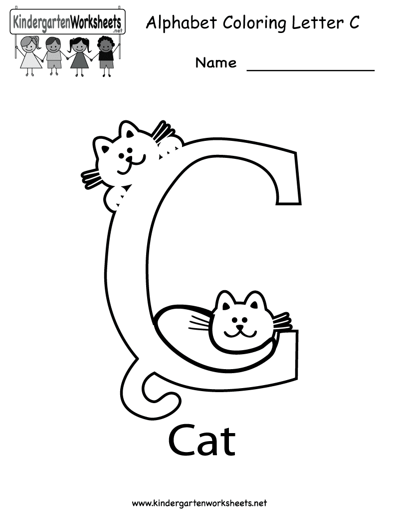 Alphabet coloring letter c printable png