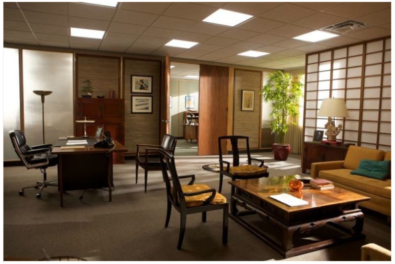 Life home at 2102 mad about mad men for Zen office design ideas
