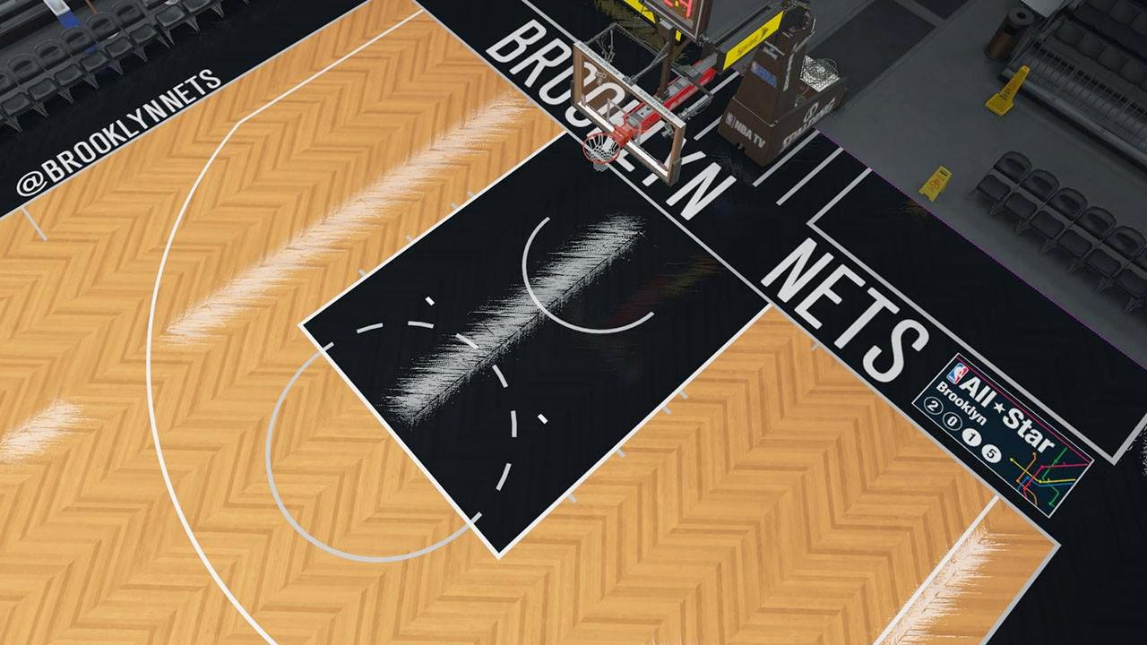 Nets new court in NBA 2K15