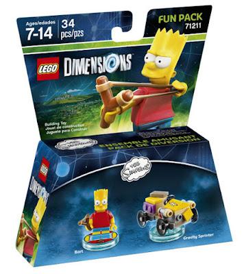 TOYS : JUGUETES - LEGO Dimensions  71211 Simpsons : Fun Pack : Bart  VIDEOJUEGOS | Edad: 7-14 años | Piezas: 34  Comprar en Amazon