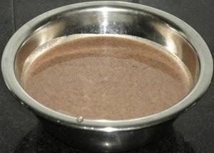 add coconut milk and ragi flour