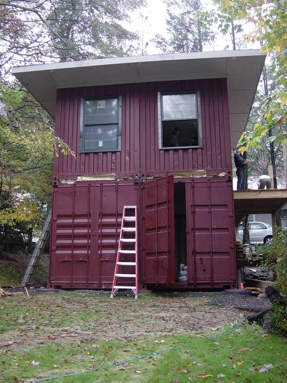 Shipping container homes january 2013 for 3 40 ft container home
