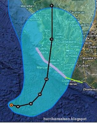 JOVA kommt als starker Hurrikan nach Jalisco (Manzanillo) und Nayarit (Puerto Vallarta), Mexiko - erste Sturmwarnung und Hurrikanwarnung aktiviert, Jova, Verlauf, Touristen, Mexiko, Vorhersage Forecast Prognose, Sturmwarnung, Hurrikanwarnung, Jalisco, Manzanillo, Puerto Vallarta, Nayarit, aktuell, Oktober, 2011, Hurrikansaison 2011,