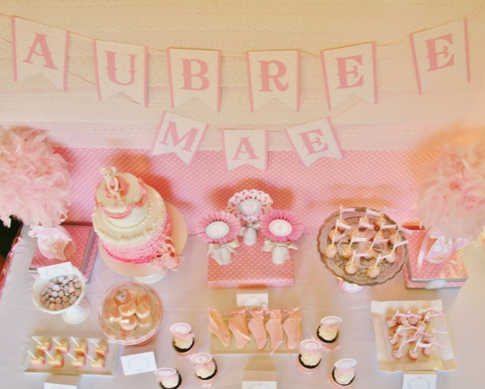 And Everything Sweet Ballerina Baby Shower Dessert Table