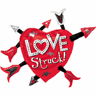 Love struck supershape foil balloon