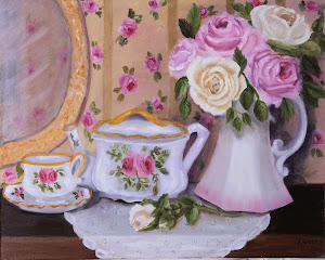 Tea and Roses Oil Painting