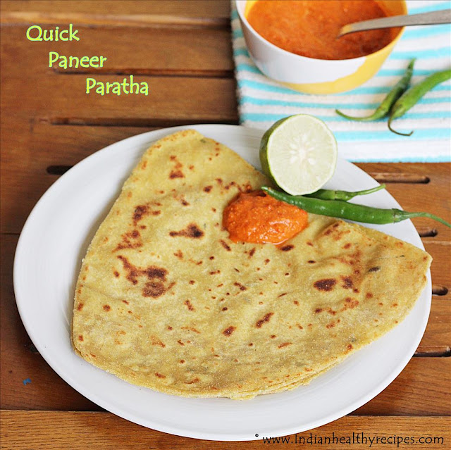 paneer paratha for kids lunch box