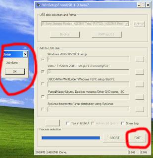 Gambar 14 Cara Membuat Dual Bootable Flashdisk untuk Win XP dan Win 7 atau Win 8