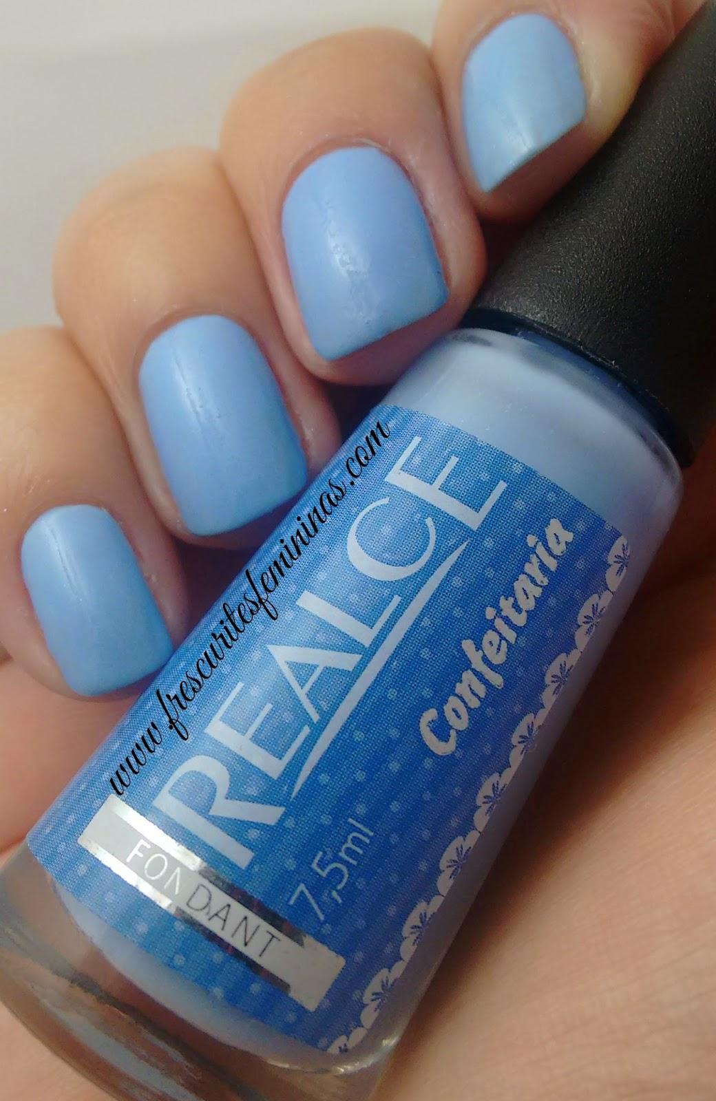 Esmalte, Realce, Fondant, Frescurites, Femininas, blue nails