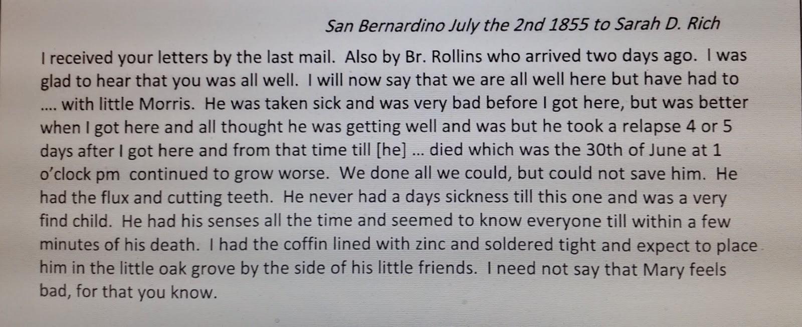 Dawning genealogy 52 ancestors in 52 weeks week 8 my mormon they departed san bernadino california on april 18 1857 emeline grover rich had returned to utah in 1854 aiddatafo Gallery