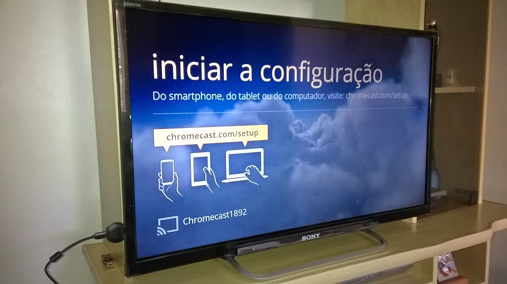 google chromecast configuracao tv 1