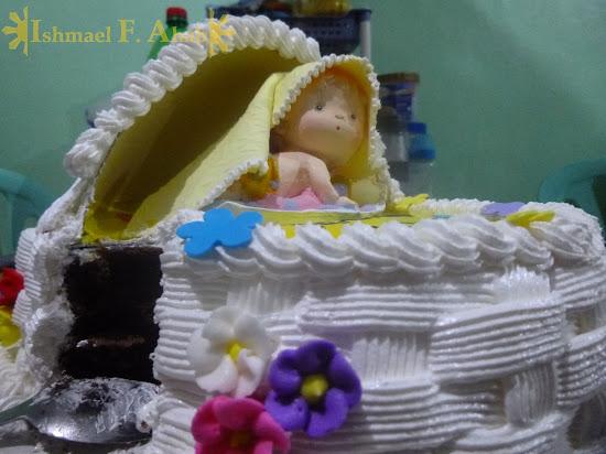 Max's Restaurant cake for binyag (christening, baptism)