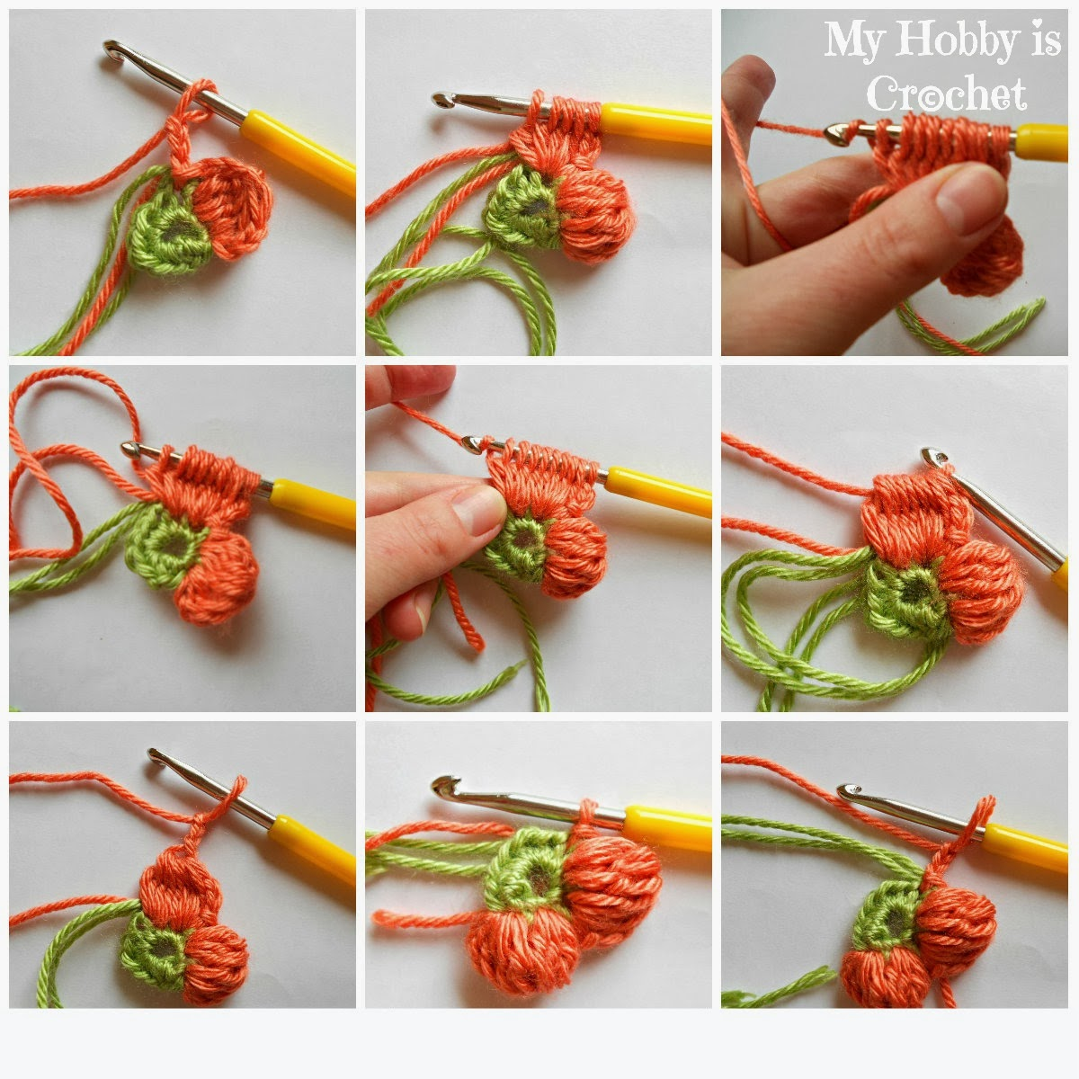Crocheting Clusters : My Hobby Is Crochet: 5 Petals Cluster Flower- Free Pattern with ...