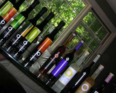 Bottles of olive oil and vinegar from O Olive Oil