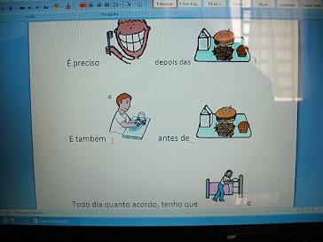 Construção de Frases usando figuras Pecs