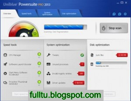 Uniblue PowerSuite Pro 2013 4.1.5.1 + Serial Key