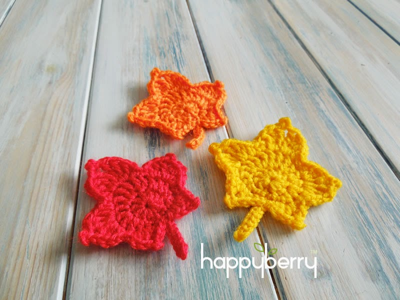 Happy Berry Crochet How To Crochet A Maple Leaf