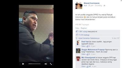 Kocak berbicara asap anggota DPR