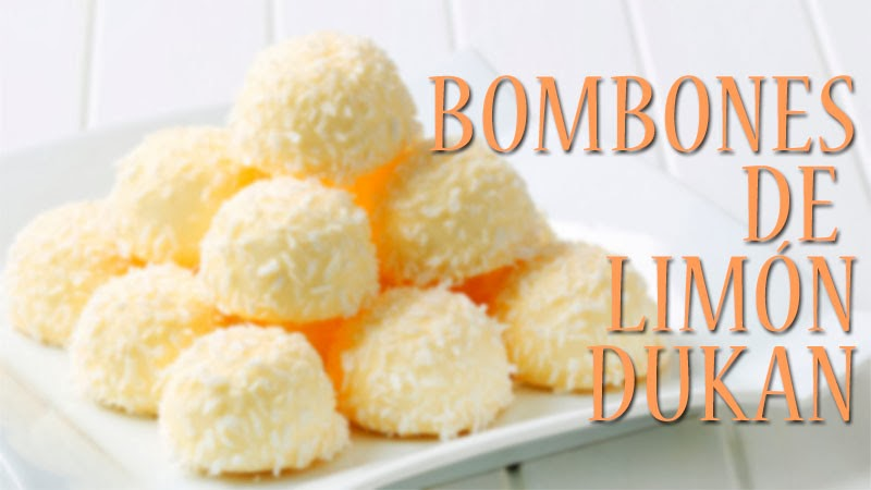 bombones de limon dukan